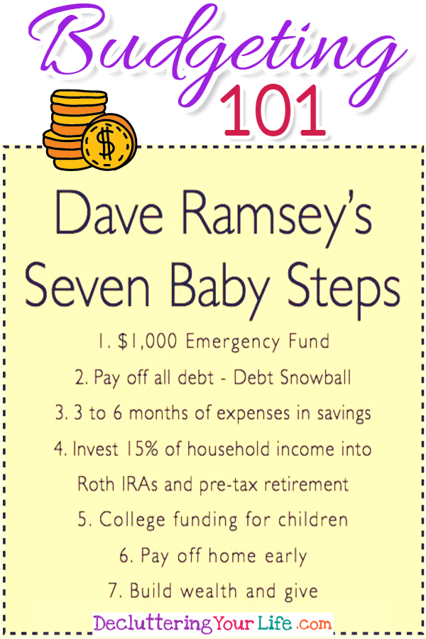 Budgeting 101 - Saving Money, Becoming Debt Free Using a Debt Snowball from Dave Ramsey (awesome money challenge and useful life hacks for financial peace!) Personal finance tips, help with budgeting money, saving money tips, frugal living tips, your monthly budget and more Budgeting 101 help