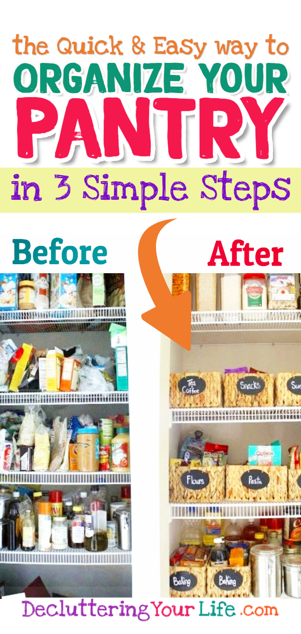 Pantry organization ideas and tips for an organized pantry. Pantry organization ideas for small pantries, walk in pantries, food storage ideas, Dollar Store organization ideas, and more pantry organization tips and tricks