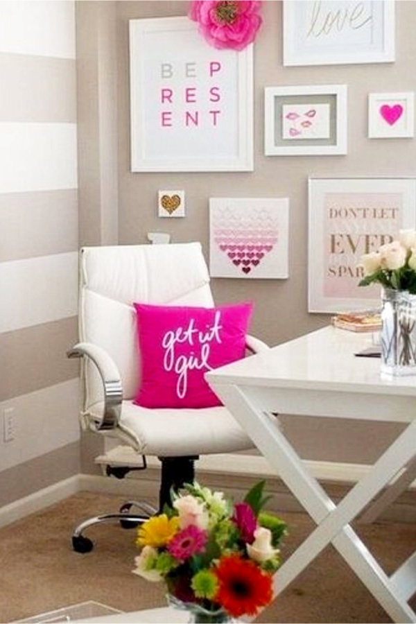 Home Office Ideas for Women on a Budget