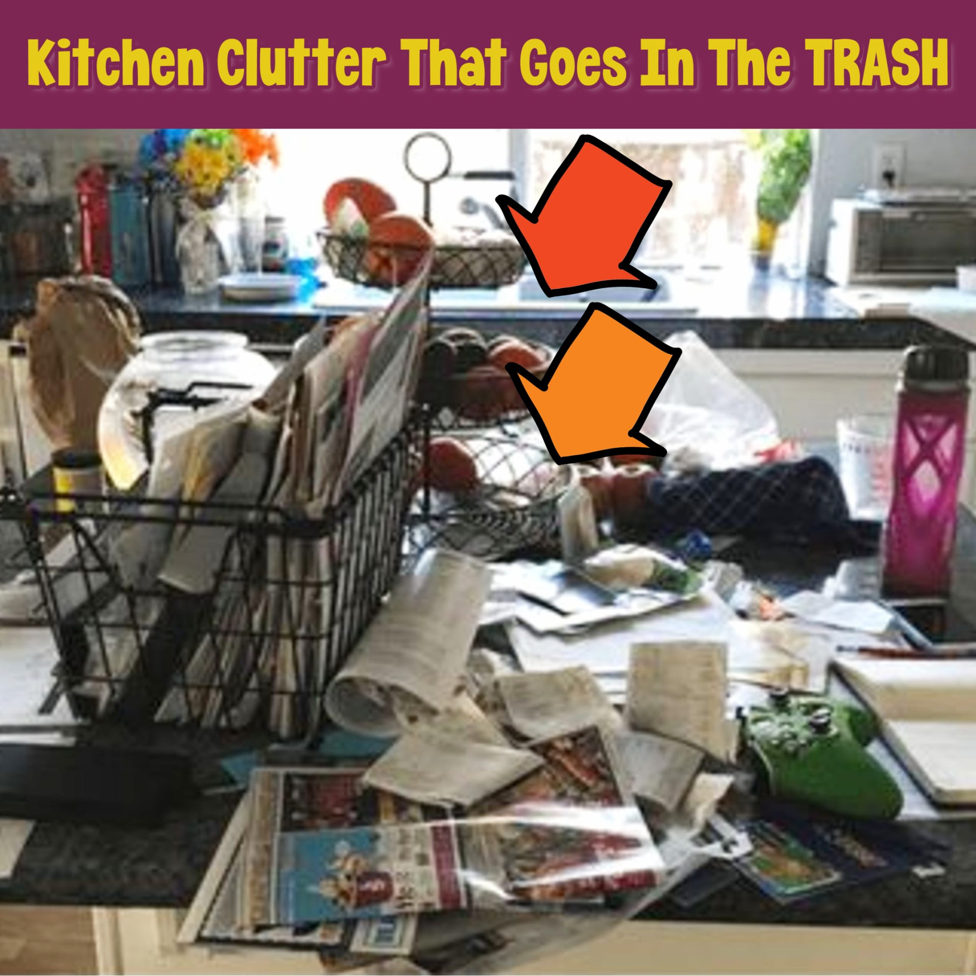 declutter kitchen counters and countertops with these easy DIY kitchen clutter solutions
