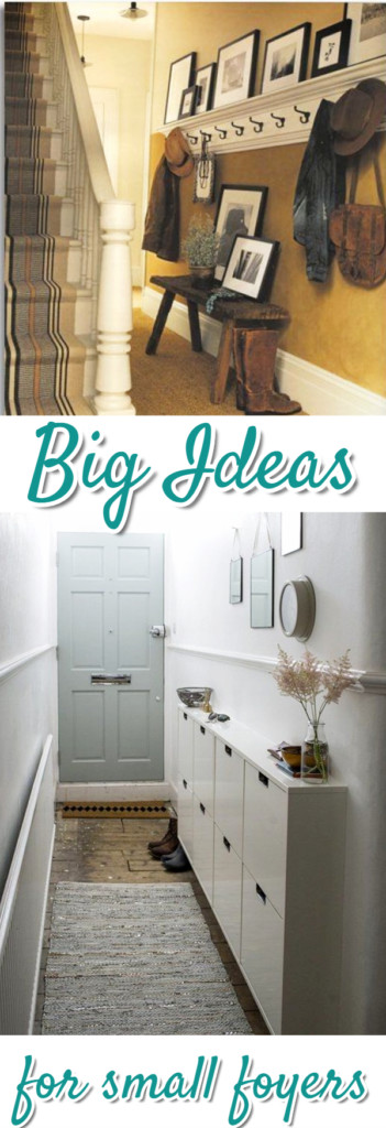 Small Foyer Decorating Ideas - DIY small front entryway ideas