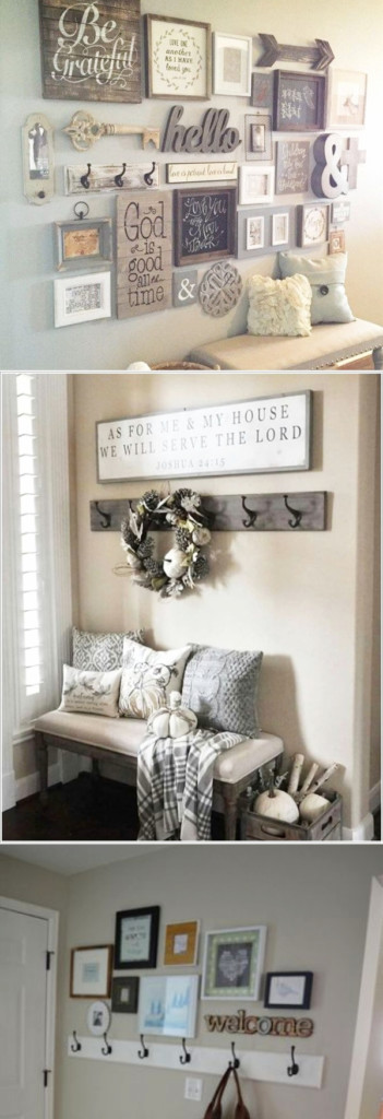 Small Foyer Decorating Ideas - Creative DIY ideas for small foyers and small entryways