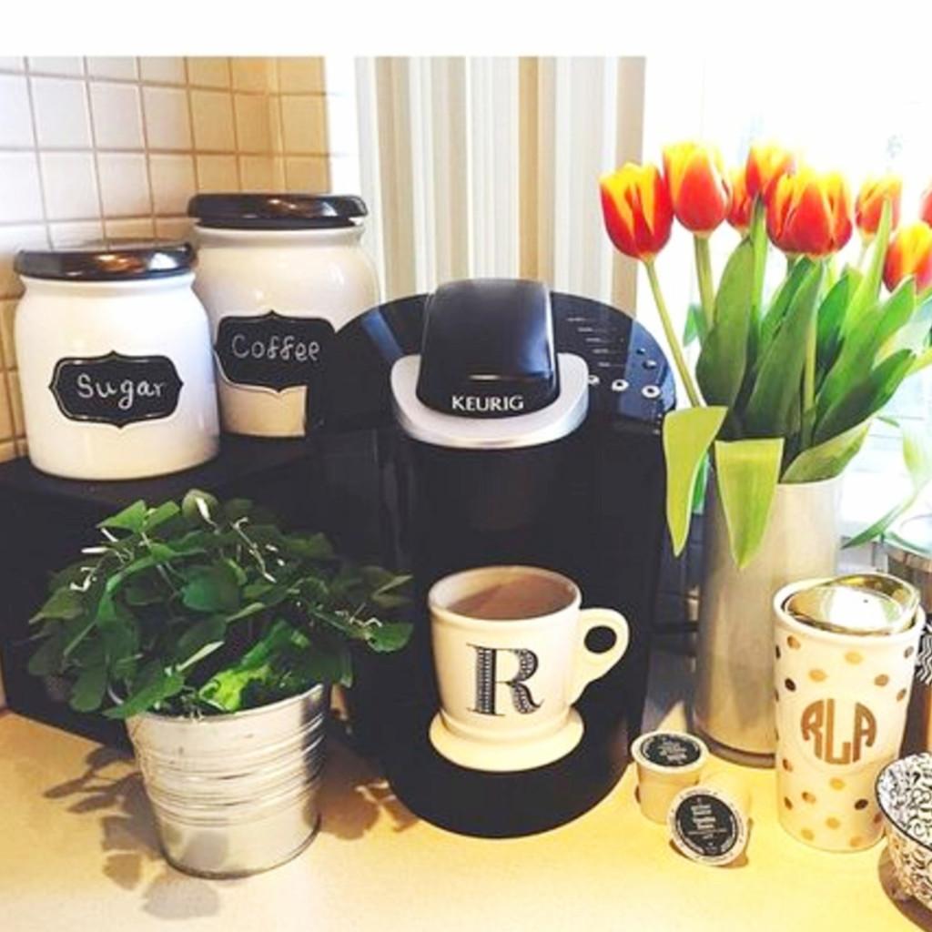 Ideas to set up coffee area in my kitchen #kitchenideas #diyroomdecor #homedecorideas #diyhomedecor #farmhousedecor