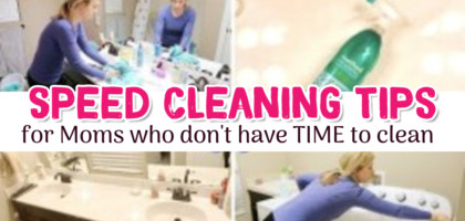 Speed Cleaning Your Home – Housekeeping Shortcuts To Make Cleaning FAST and PAINLESS