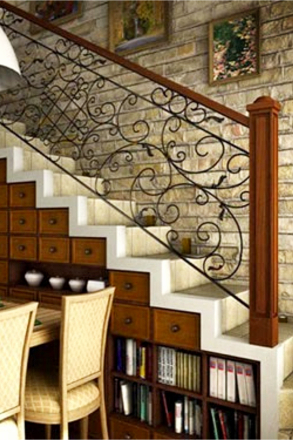 Under stair storage ideas - drawers and shelves under stairs