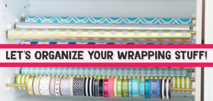 Clever Ways To Organize Wrapping Paper and Your Gift Wrapping Supplies