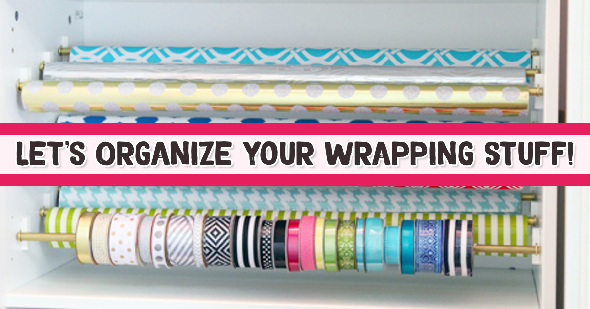 Wrapping paper storage ideas! Organize Wrapping Supplies and Wrapping Paper - Organization Ideas: Useful life hacks for wrapping supplies organization