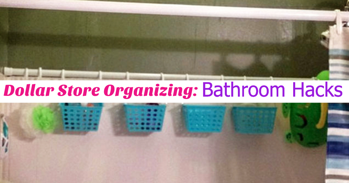Dollar Store Organizing - Bathroom Organization Ideas On A Budget - Bathroom Organization Hacks & Cheap DIY Bathroom Storage Ideas using Dollar Stores organization stuff for under sink, make up, counter space, towels, shelves and more dollar store DIY organization life hacks to get bathroom organized at home