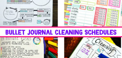 10 Bullet Journal Cleaning Schedule Layout Ideas I Love