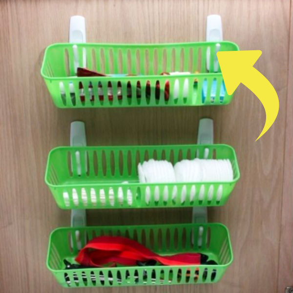 Dorm Room Ideas - How To Organize a Dorm Room Closet to Maximize storage space - command hooks are your BFF!