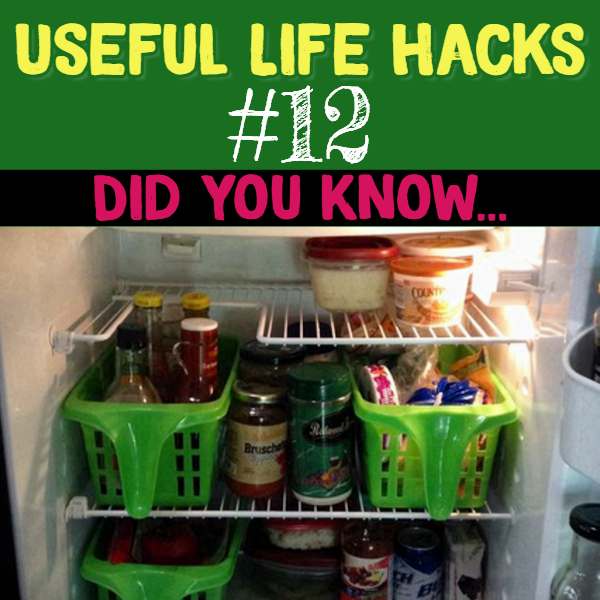 Dollar Store refrigerator organization hack that is simply brilliant! Useful life hacks to make life easier - household hacks... MIND BLOWN!