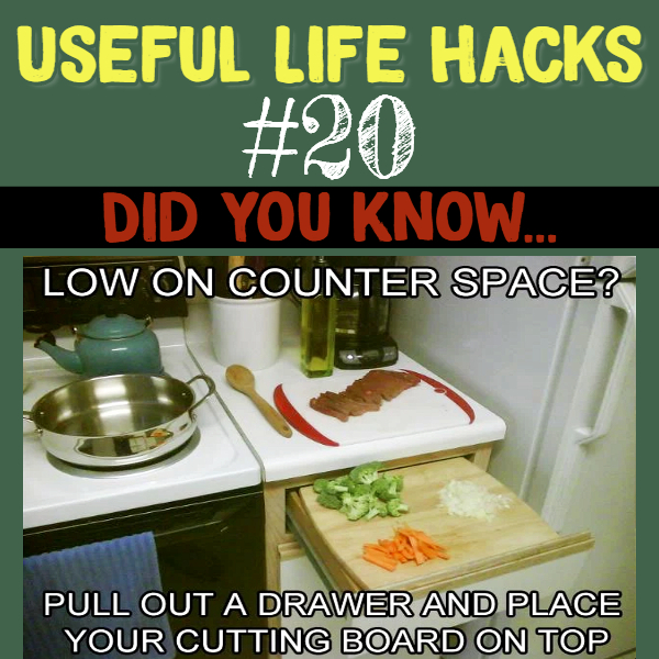 Kitchen hack to get more space in a small kitchen. Useful life hacks to make life easier - household hacks... MIND BLOWN!