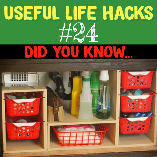 Organizing hack to get organized AND get more storage space under your kitchen sink. Useful life hacks to make life easier - household hacks... MIND BLOWN!