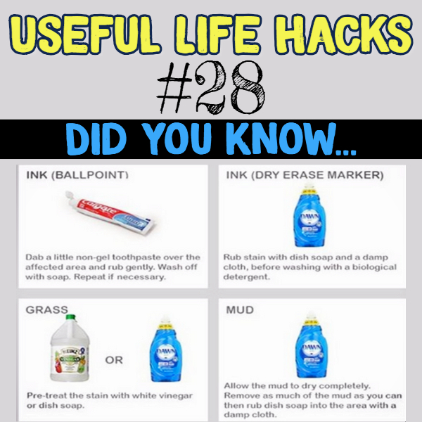 Brilliant stain removal hacks using everyday items. Useful life hacks to make life easier - household hacks... MIND BLOWN!