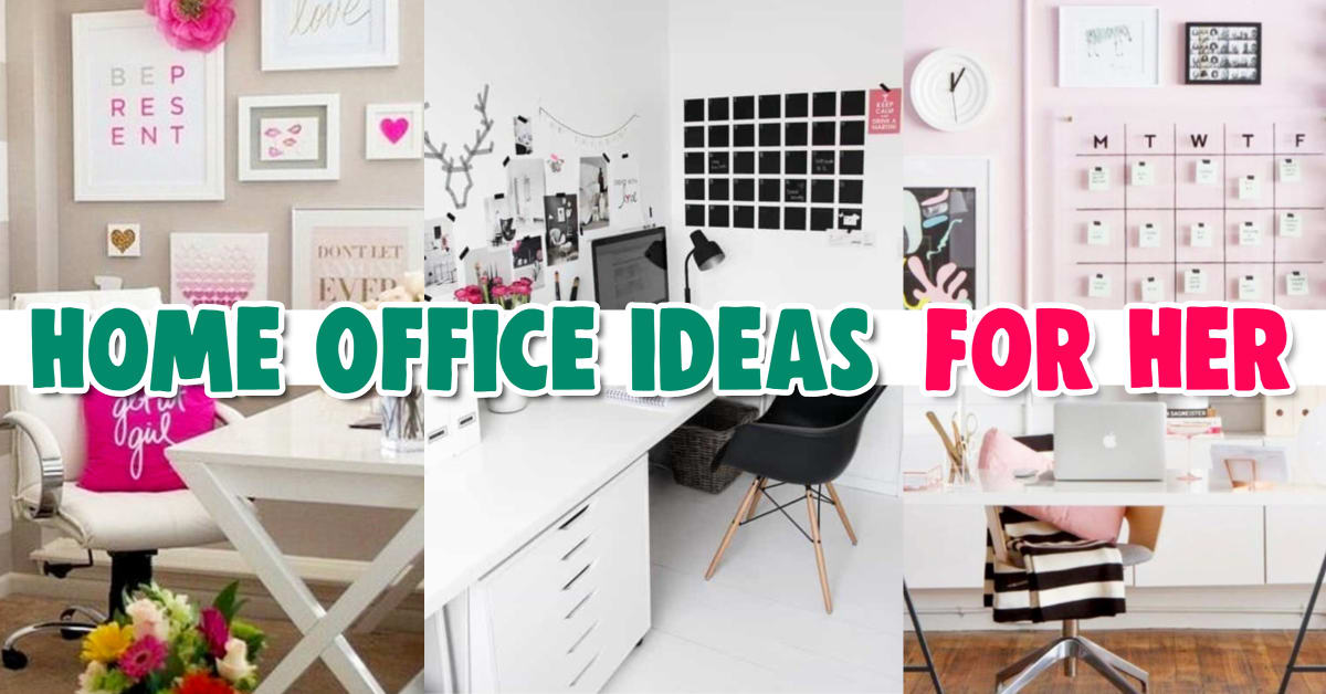 home office ideas for her - pictures of home office ideas for women - feminine home office ideas