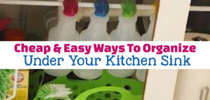 Cabinet Organization Ideas: Clever Ways To Organize Under Your Kitchen Sink – Even If You're on a Budget