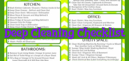 Deep Cleaning Checklist (Free Printable) Room By Room Deep Cleaning Checklist