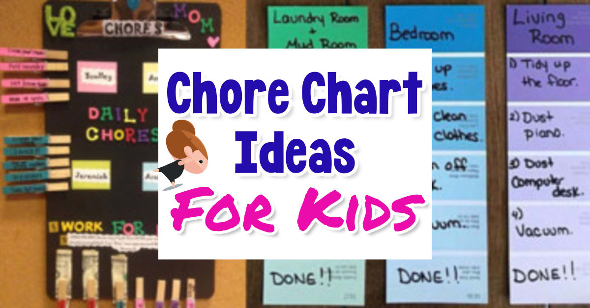 Chore Chart ideas-Kids Chore Charts You Can Make By Age - Simple Homemade Family Chore Chart Ideas