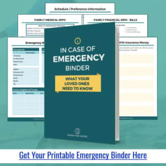 Printable Emergency Binder PDF, Checklists and Worksheets to Make Your Own Simple Important Documents Binder
