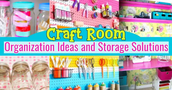 Craft Room Organization – Unexpected & Creative Ways to Organize Your Craftroom on a Budget