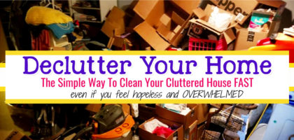 How To Clean When You Are DROWNING in CLUTTER