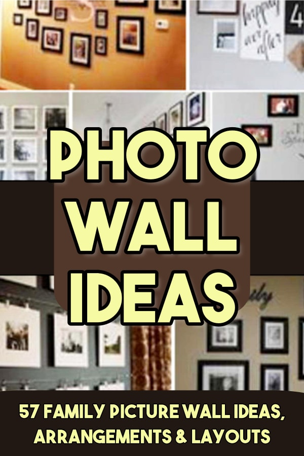 Photo Wall Ideas - Family Picture Wall Ideas, Arrangements and Layouts For Your Family Pictures or Gallery Wall