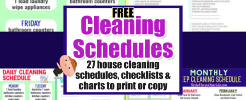Cleaning Schedules & Checklists-Daily, Weekly, Monthly House Cleaning Charts