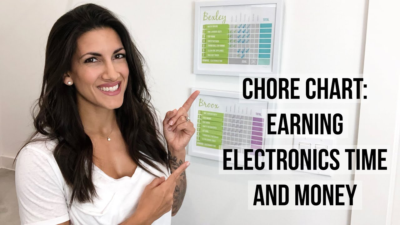 Chore Charts - Chore Chart Ideas For Kids To Earn Money and Electronics Time On Their Phones, Internet and Gamiling